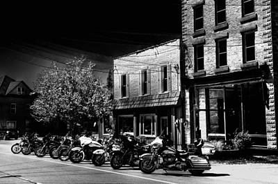 Hogs On Main Street - Old Forge Print by David Patterson