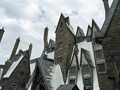 Snowy Photograph - Hogsmeade Rooftops by Aimee L Maher Photography and Art Visit ALMGallerydotcom