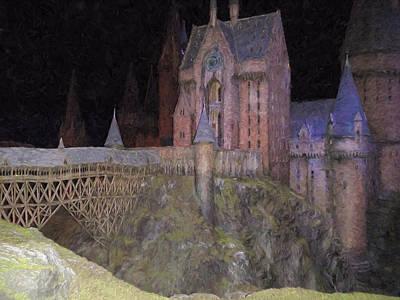 Hogwarts School Print by Roy Pedersen