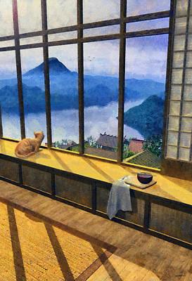 Hokusai Painted Print by Cynthia Decker