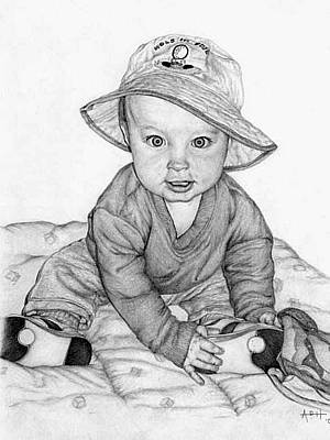 Portrait Drawing - Hole In One by Angela Hannah