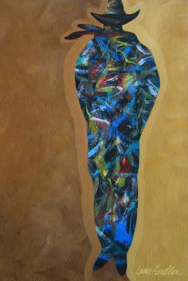 Abstract Painting - Hole In The Knee by Lance Headlee