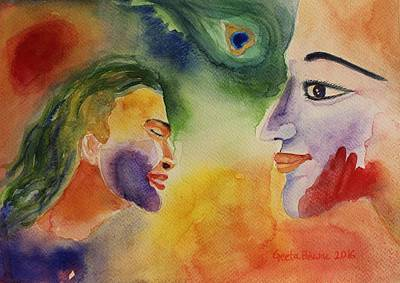 Devotional Painting - Holi The Festival Of Colors by Geeta Biswas
