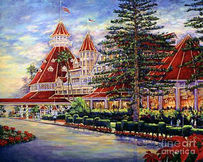 Hotel Del Coronado Painting - Holiday Hotel 2 by Glenn McNary