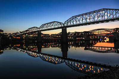 Holiday Lights Chattanooga #3 Print by Tom and Pat Cory