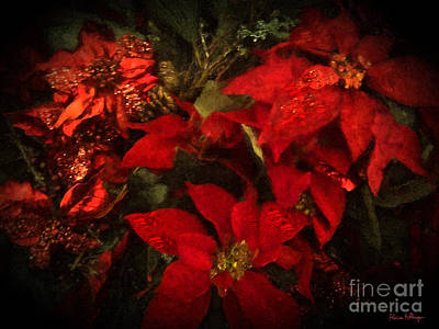 Digital Art - Holiday Painted Poinsettias by Alicia Hollinger