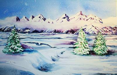 Holiday Snow Original by Catherine Bennett