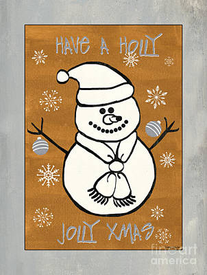Silver Drawing - Holly Holly Xmas by Debbie DeWitt