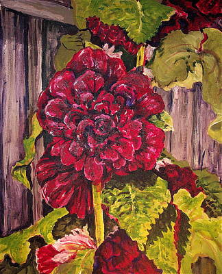 Holly Hocks Painting - Hollyhock by Lynne Haines