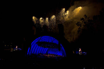 Hollywood Bowl Photograph - Hollywood Bowl Fireworks by Mitchell Christopher