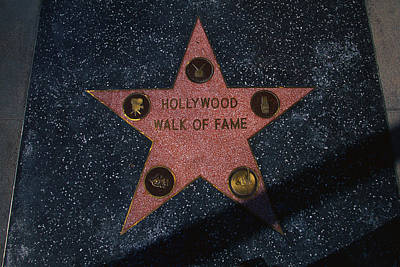Hollywood Walk Of Fame Star Los Angeles Print by Panoramic Images