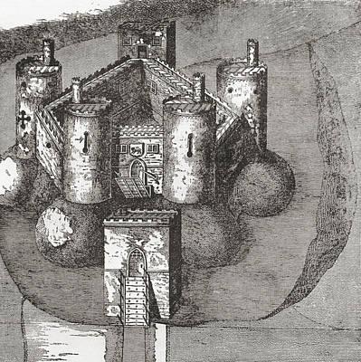 Holt Castle, Holt, Wrexham Borough Print by Vintage Design Pics