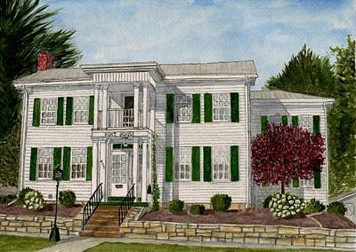 Pi Painting - Holt House by B Kathleen Fannin