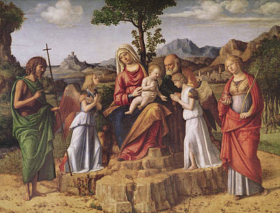 Holy Conversation Print by Giovanni Battista Cima da Conegliano