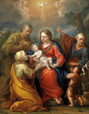 Painting - Holy Family And Saints by Andrea Casali