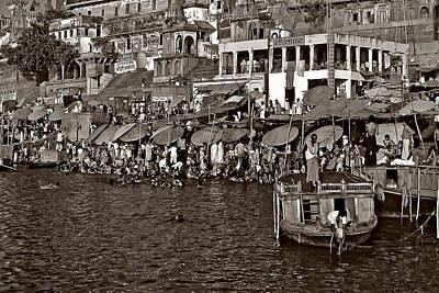 Holy Ganges Monochrome Print by Steve Harrington