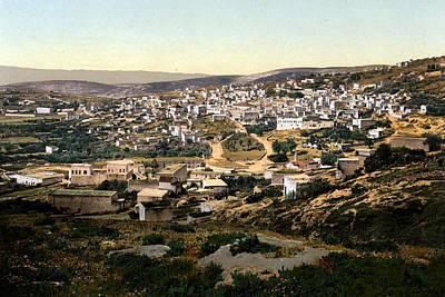 Holyland Digital Art - Holy Land - Nazareth by Munir Alawi