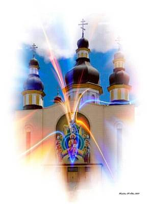 Religious Art Mixed Media - Holy Trinity Cathedral  by Madeline  Allen - SmudgeArt