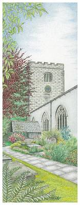 Holy Trinity Church Clock Bolton Le Sands Lancashire Print by Sandra Moore