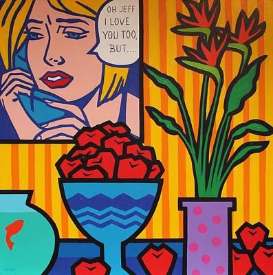 Homage To Lichtenstein And Wesselmann Print by John  Nolan