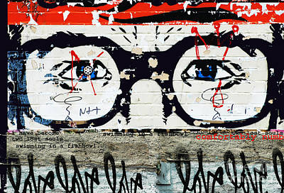 Homage To Pink Floyd Graffiti Print by Anahi DeCanio