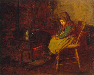 Eastman Johnson Painting - Home And Warmth by Eastman Johnson