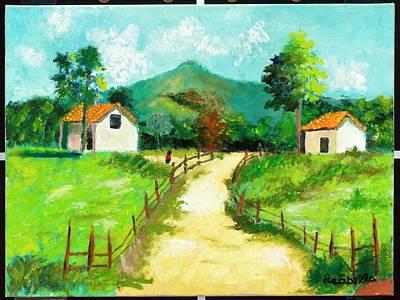 Casita Painting - Home Before Dark by Izzy Karriker