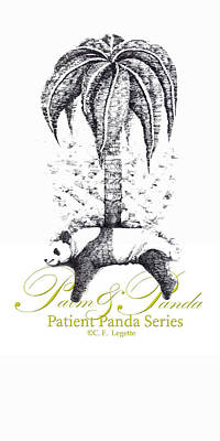 Drawing - Home Decor Palm And Panda by C F  Legette