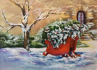 Painting - Home For Christmas by Donna Pierce-Clark