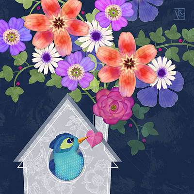 Home Is Where You Bloom Print by Valerie Drake Lesiak