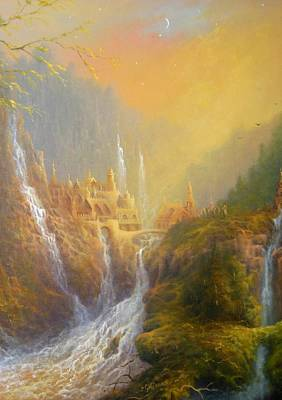 Tolkien Painting - Rivendell Home Of Elves  by Joe Gilronan