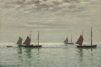 Tranquil Painting - Home On The Morning Tide by Reginald Aspinwall