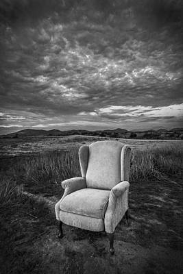 Home On The Range - Black And White Print by Peter Tellone