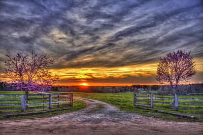 Home Sweet Home Lick Skillet Road Sunset Print by Reid Callaway