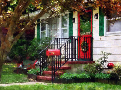 Stairs Photograph - Home That Always Celebrates Christmas by Susan Savad