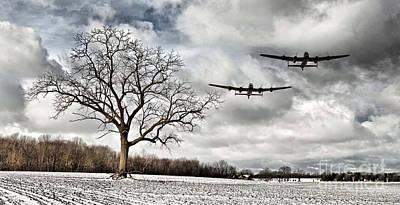 Home Through The Snow Print by J Biggadike