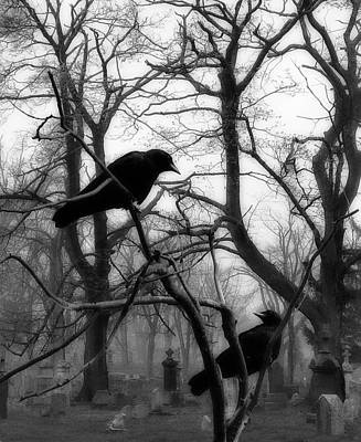 Graveyard Digital Art - Home To Gothic Crows by Gothicolors Donna Snyder
