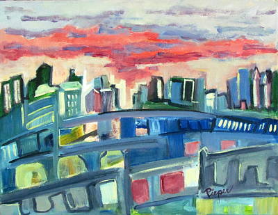 Home To The Softer Side Of City Print by Betty Pieper