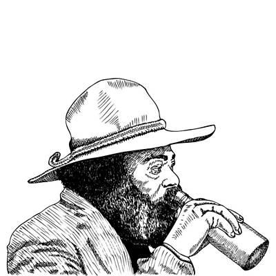 Lif Drawing - Homeless Man by Karl Addison