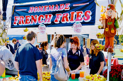 Shrospshire Painting - Homemade French Fries by Lanjee Chee
