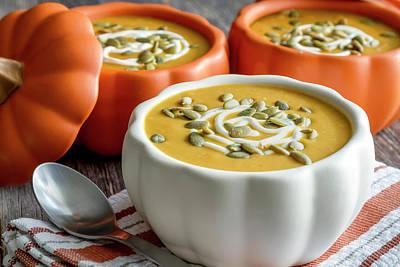 Homemade Pumpkin Soup Print by Teri Virbickis