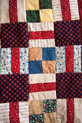 Quilts Photograph - Homemade Quilt by Christopher Holmes