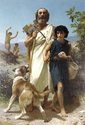William-adolphe 1825-1905 Painting - Homer And His Guide by MotionAge Designs