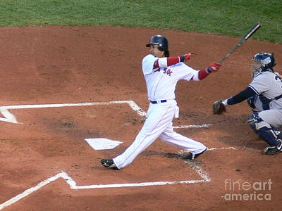 Homerun Swing Print by Kevin Fortier