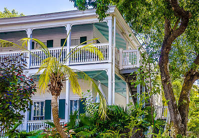 Homes Of Key West 1 Print by Julie Palencia