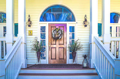 Homes Of Key West 10 Print by Julie Palencia