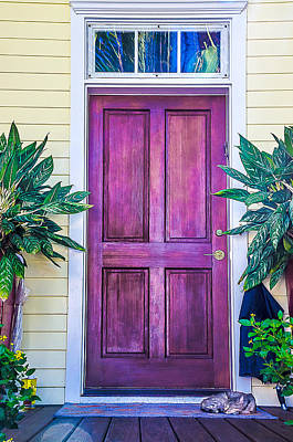 Homes Of Key West 11 Print by Julie Palencia