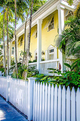 Homes Of Key West 14 Print by Julie Palencia