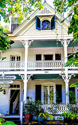 Homes Of Key West 2 Print by Julie Palencia