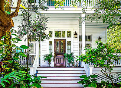 Homes Of Key West 3 Print by Julie Palencia